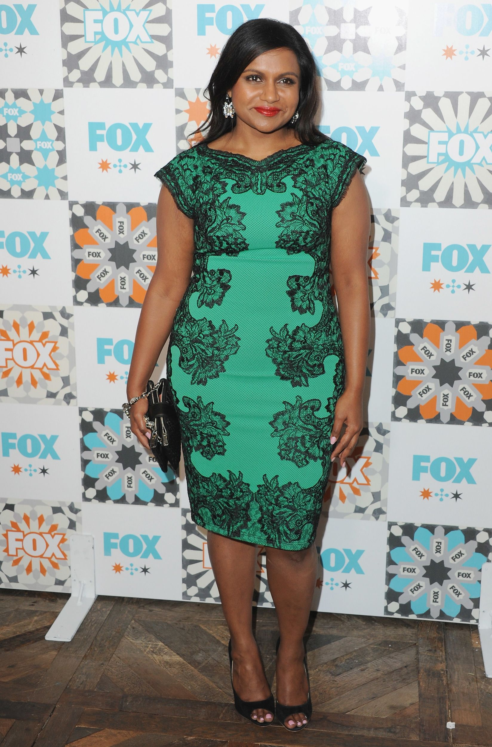 Who: Mindy Kaling Wore: Tadashi Shoji Where: FOX All-Star Party 2014 Television Critics Association Summer Press Tour at Soho House in Los Angeles