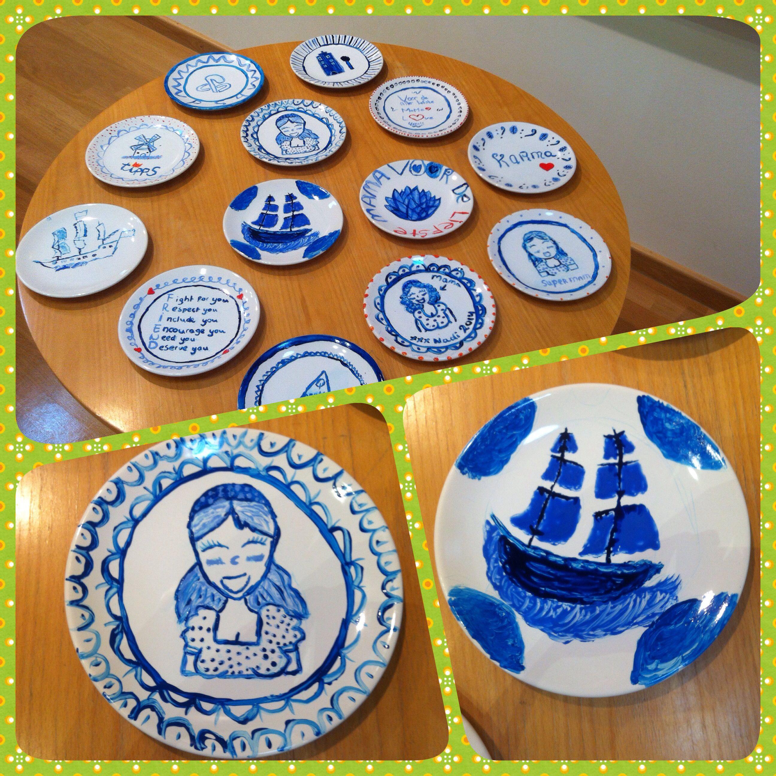 Delfts Blauw Schilderen Brugklas Brugklas Knutselen Kleurplaten