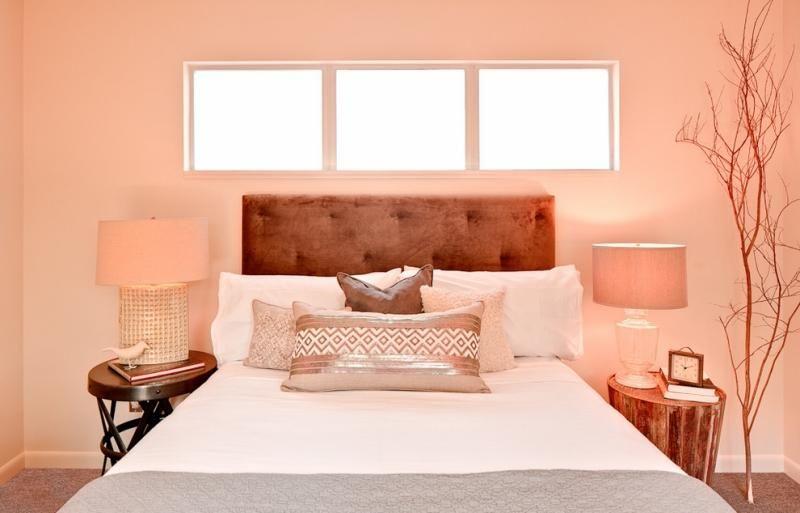 couleur peinture chambre moderne - rose ou pêche selon vos préférences