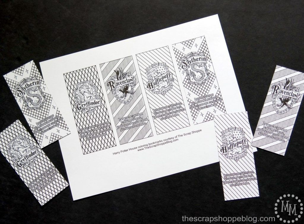 Pick Your Hogwarts House Harry Potter House Coloring Bookmarks