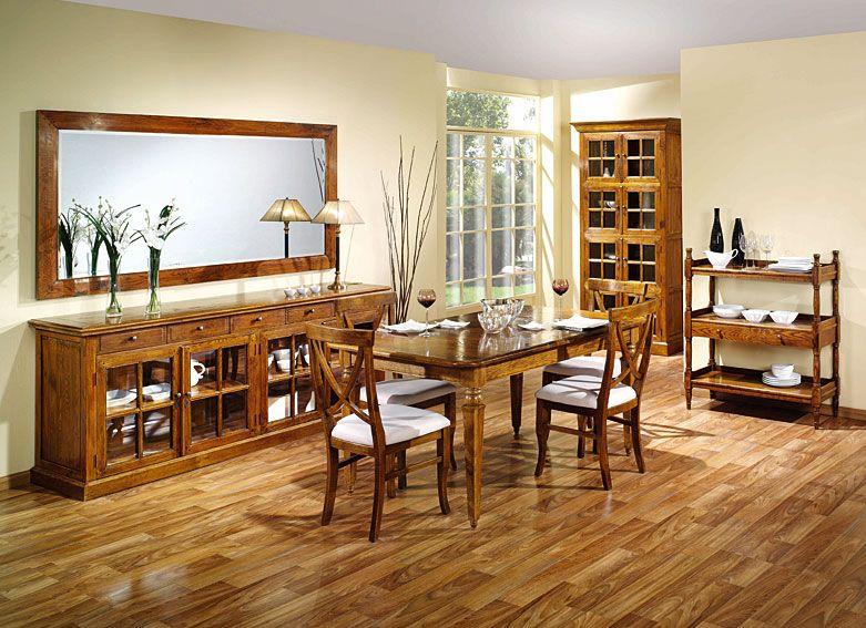 Mesa, sillas, vitrinas y librerías en roble, ideal para armar un ...