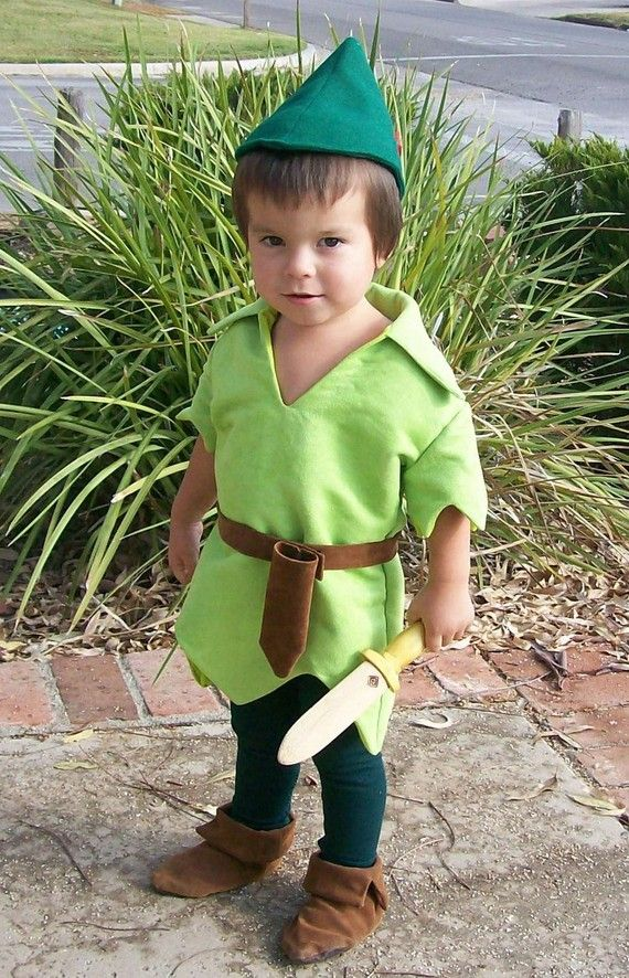 Peter Pan Costume Child Size Faux Lime Green Suede Tunic Green Felt ... aa0802665b2b