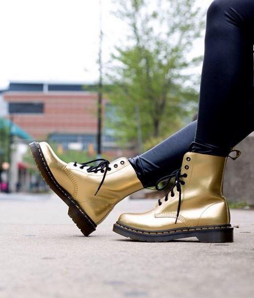307f556e335e6 Pascal - Gold Spectra Pat Dr Martens - Heels    Shoe  Styles   Dr ...