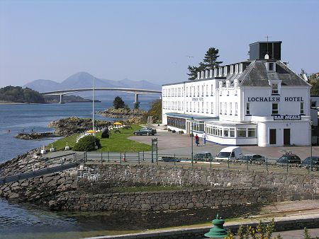 The Lochalsh Hotel and the Skye Bridge in the distance.