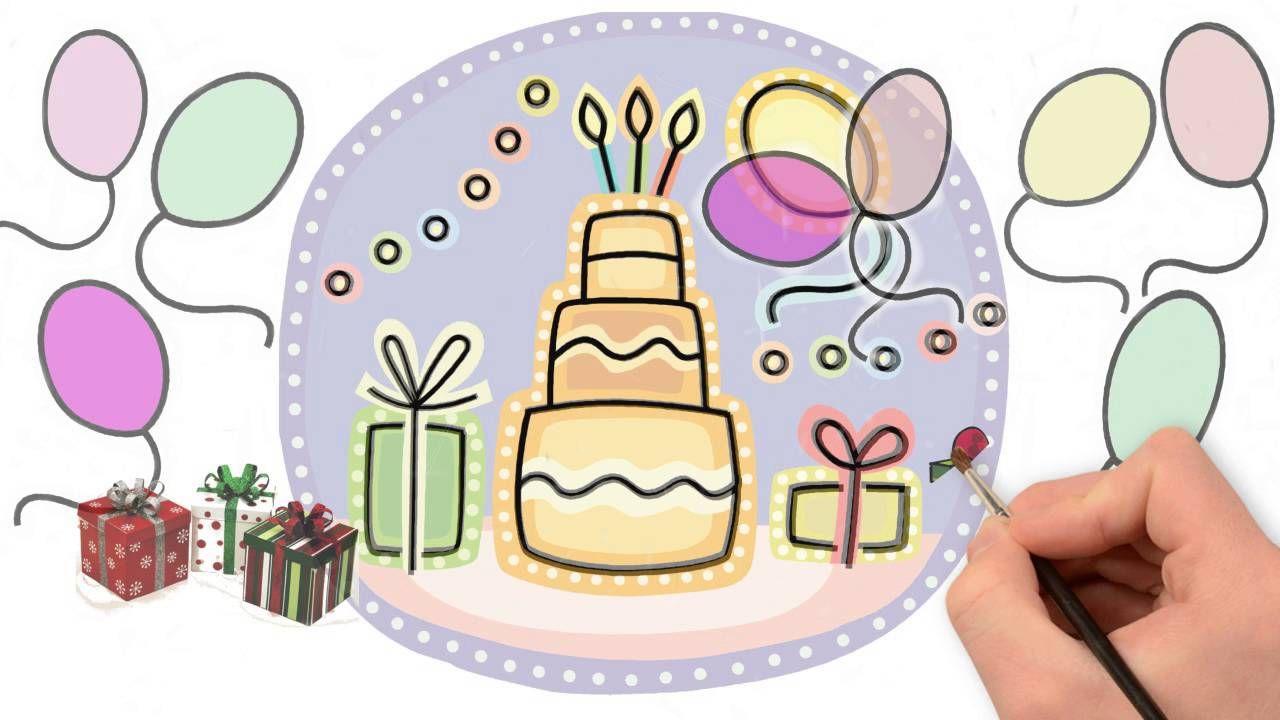 Открытка с днем рождения однокласснику нарисовать