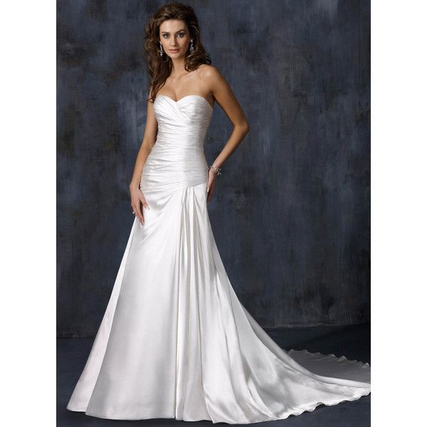 155.69 cadress.com SUPPLIES Windsor Stunning A-line Sweetheart Lace Up... ($156) ❤ liked on Polyvore featuring dresses and wedding dresses