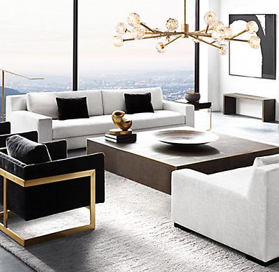 Saunderson Shagreen Cube Large Square Coffee Table Contemporary Decor Living Room White Living Room Decor Contemporary Living Room