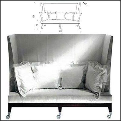 Driade Neoz 3 Seater High Back Sofa Furniture Modern Furniture Stores Sofa Design