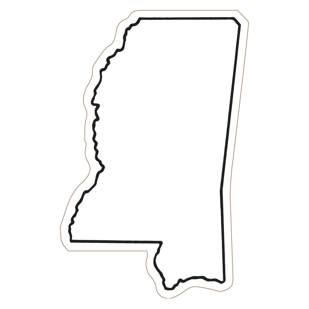 Mississippi State Outline Clipart