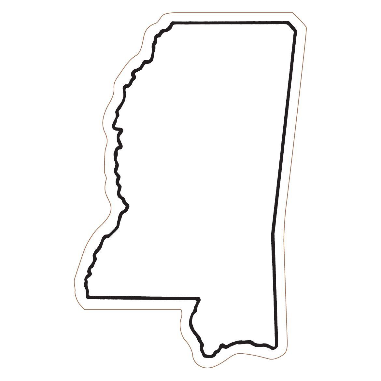 Mississippi State Outline Clipart