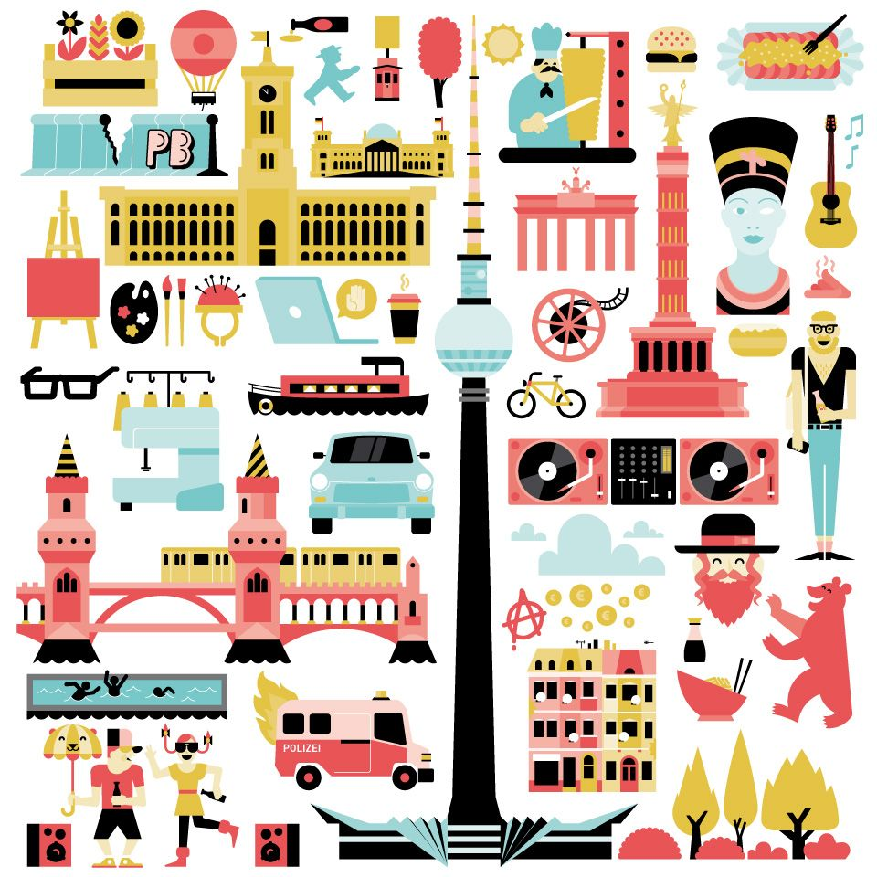 Cute Illustration Of Berlin Carnets De Voyage Image De Ville