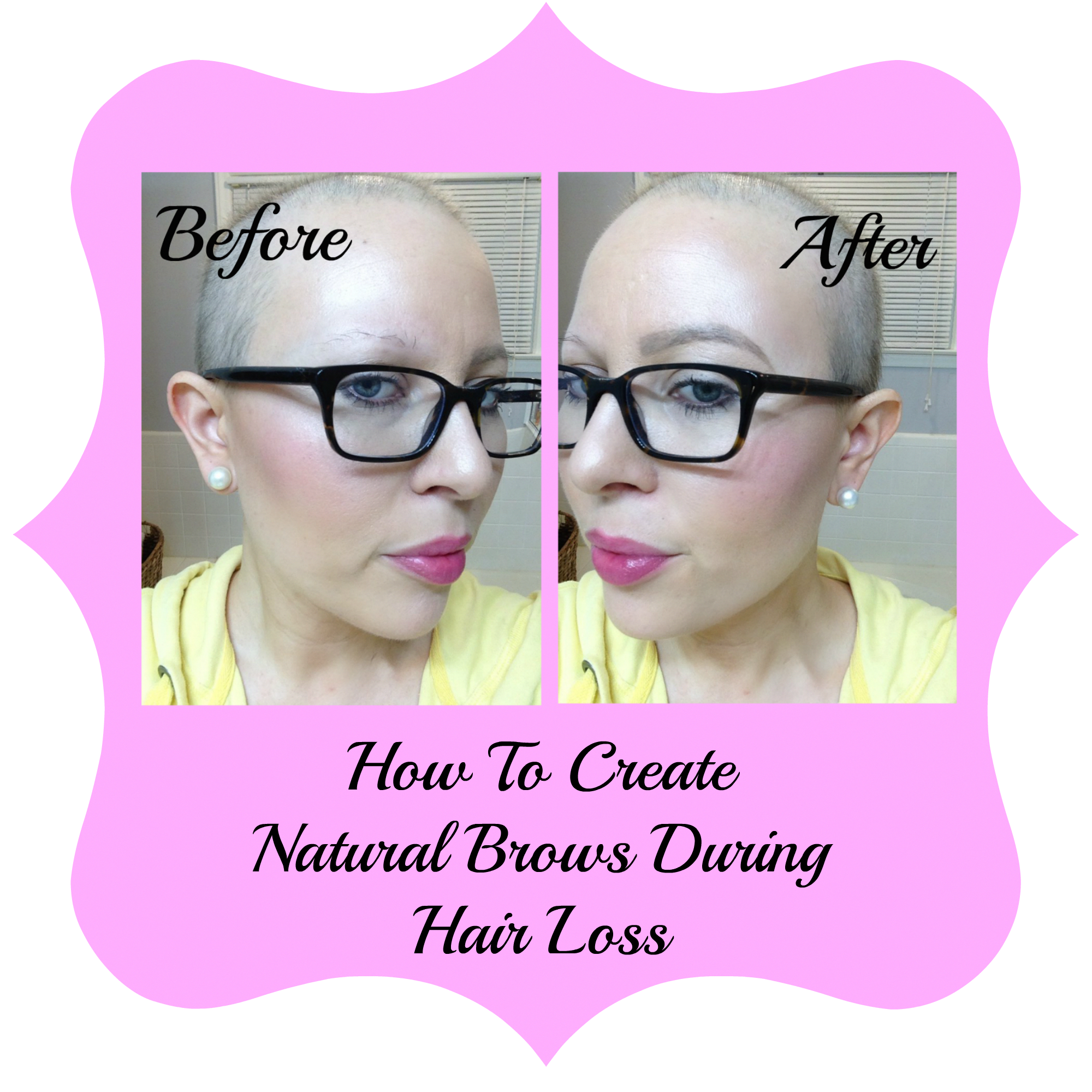 How to create natural brows during hairloss. Chemo