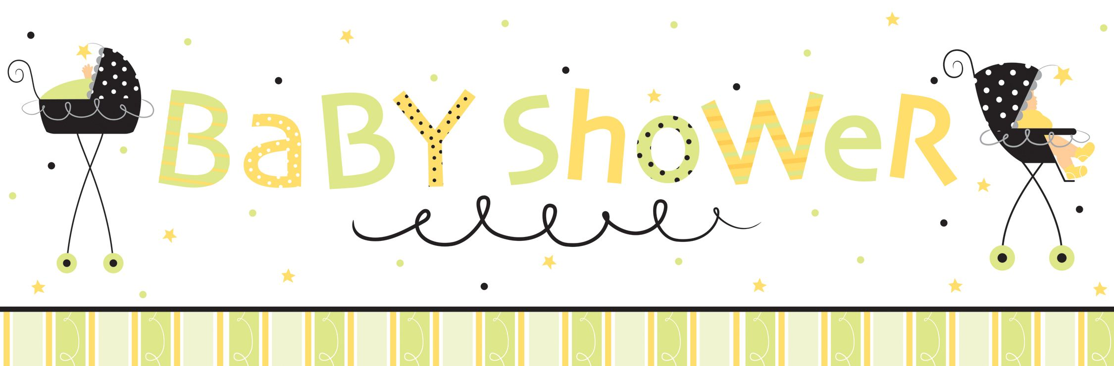 How to make baby shower banner with photoshop http for Baby shower decoration templates