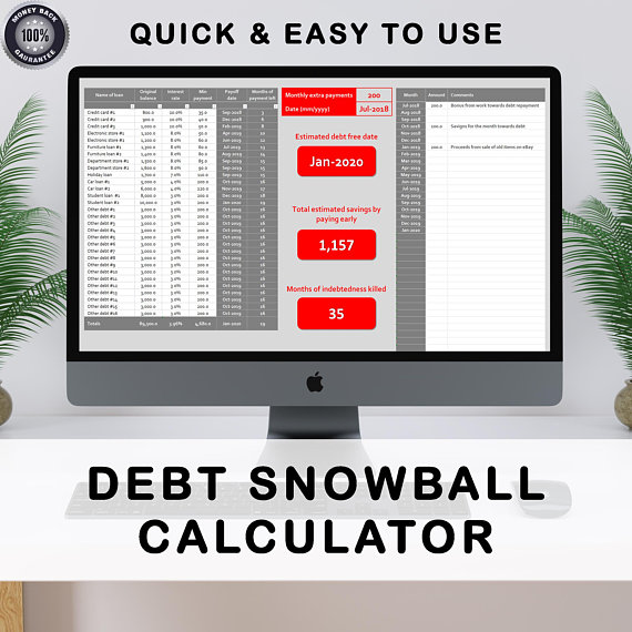 Debt Snowball Debt Calculator Dave Ramsey Debt Spreadsheet - debt calculator spreadsheet