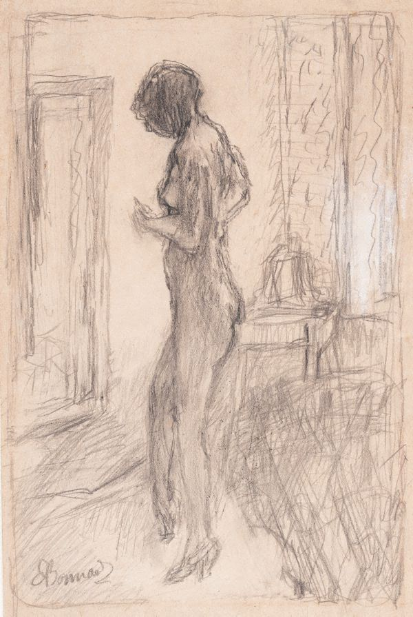 Nude in front of a mirror, (1931) by Pierre Bonnard :: The Collection :: Art Gallery NSW