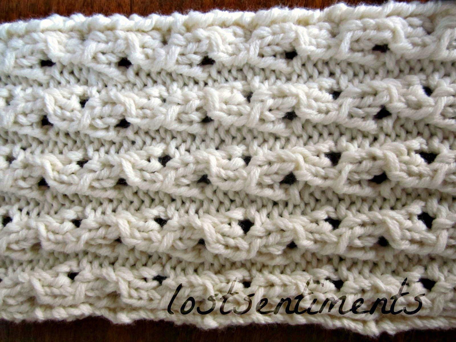 lostsentiments: Coconut Milk Peekaboo Lace Scarf Pattern - FREE Kn ...