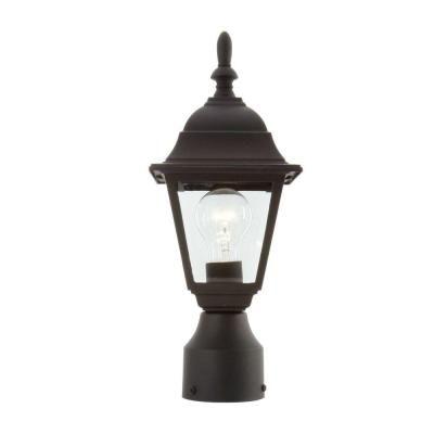 Hampton Bay 1 Light Black Outdoor Lamp Hb7026p 05 The Home Depot Outdoor Lamp Diy Outdoor Lighting Outdoor Lighting