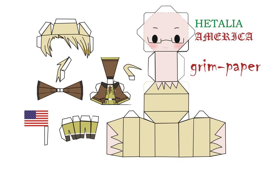 chibi paper dolls hetalia america paperdolls