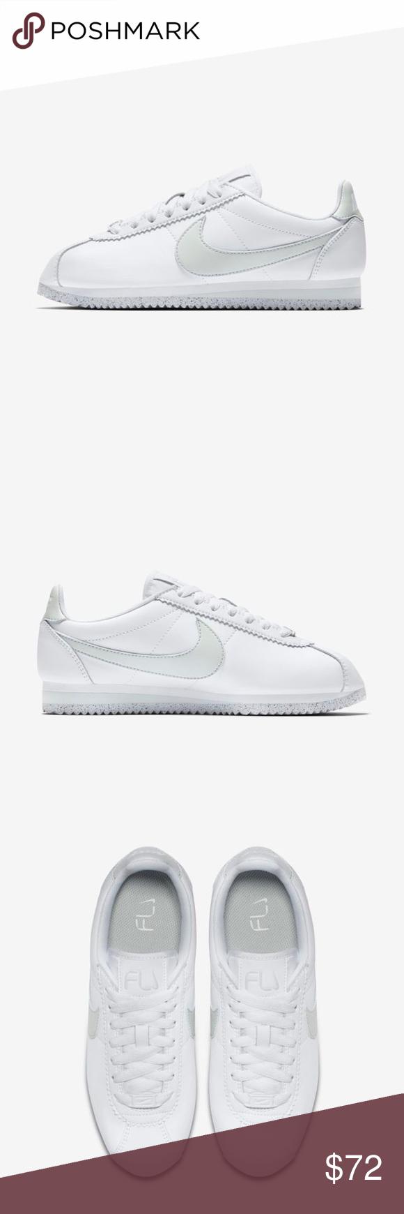 c924992d58b2f NEW IN BOX Nike Classic Cortez Flyleather Nike Classic Cortez Flyleather  Sneaker New in box. Never worn. Color  White White Light Silver Style   AR4874-100 ...
