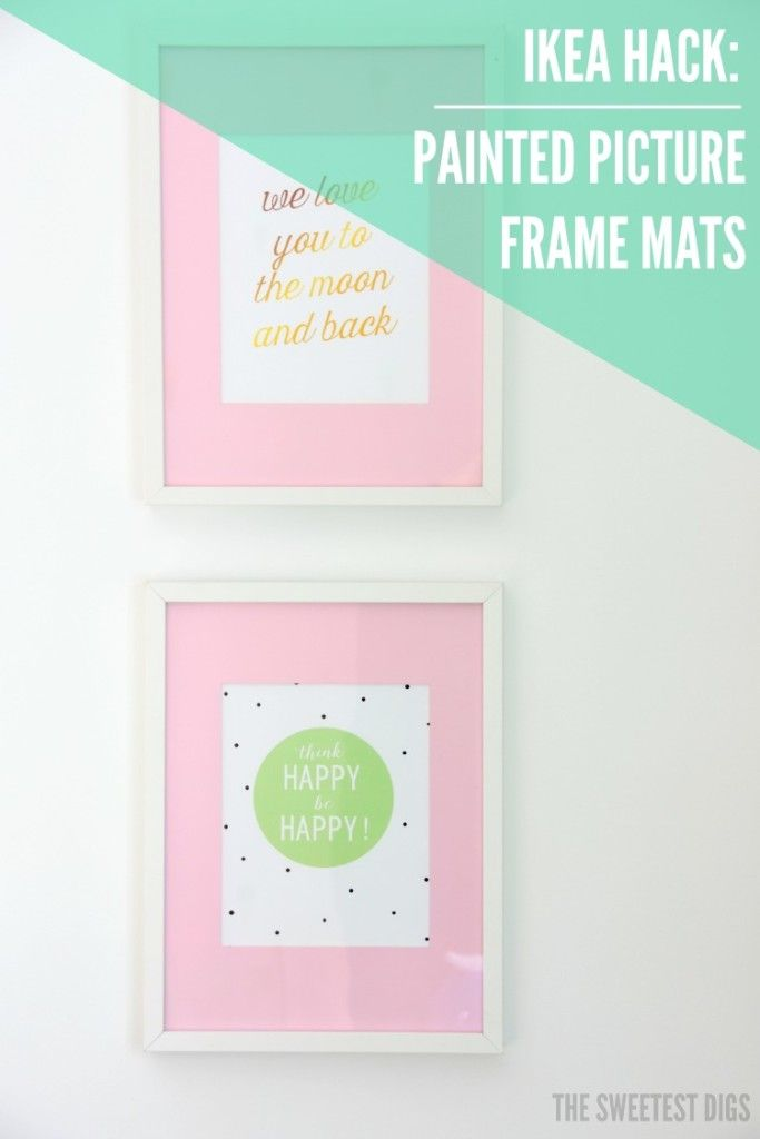IKEA Hack: Painted Ribba Picture Frame Mats | Easy diy projects ...