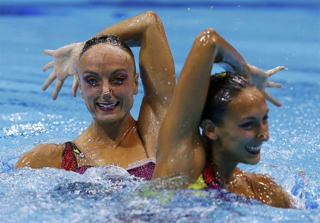 Terrifying Faces of Olympic Synchronized Swimming
