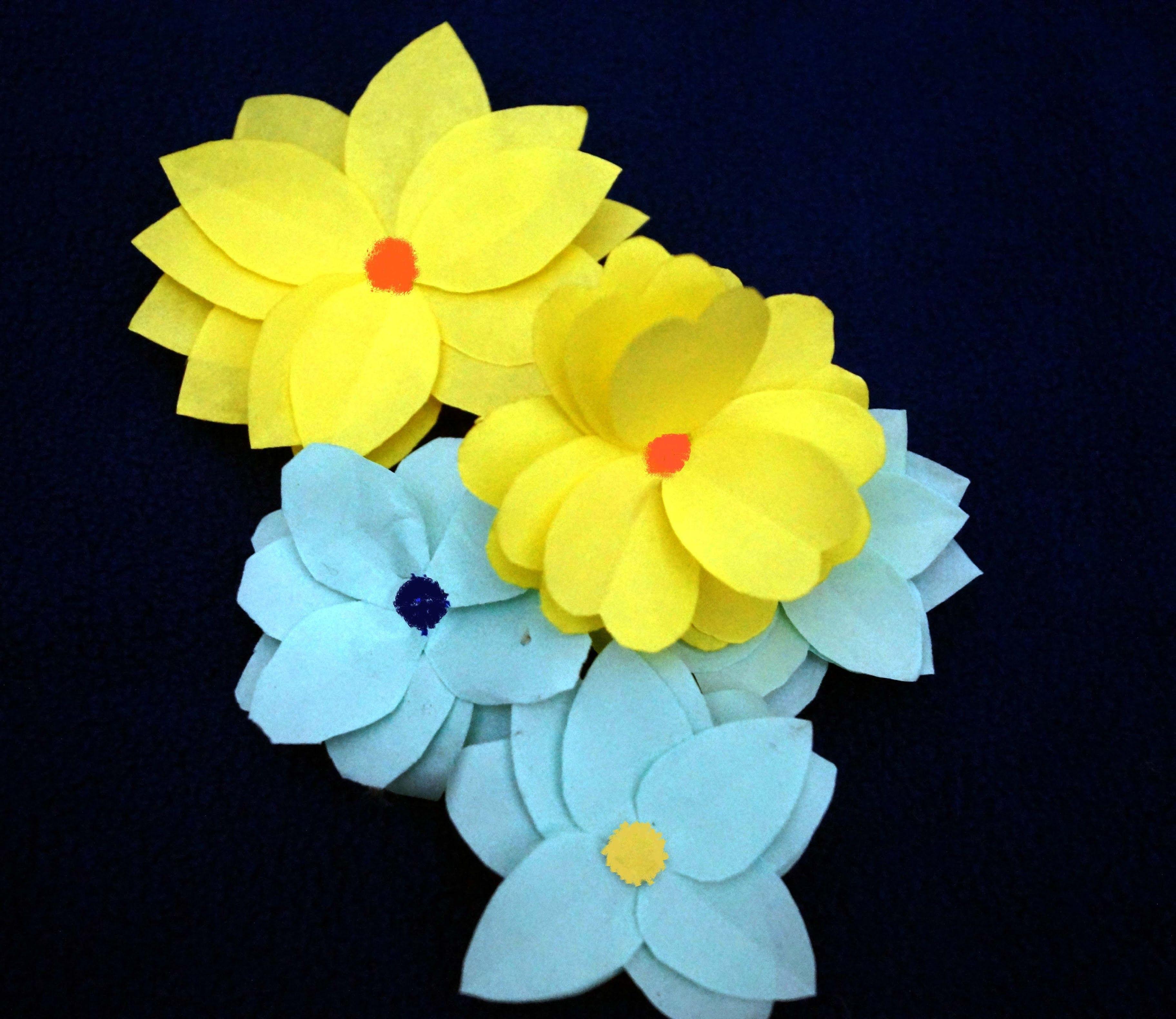 Easy paper flower making craft for children papercraft pinterest easy paper flower making craft for children mightylinksfo