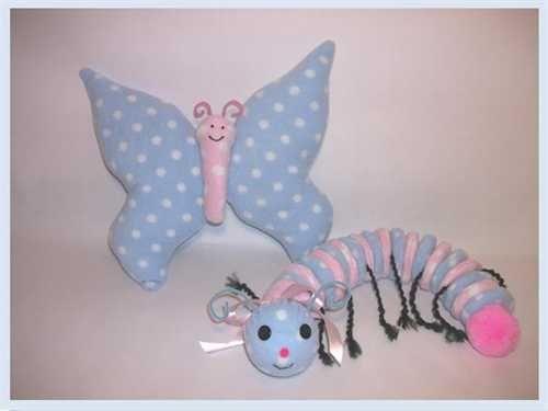 Stuffed Animal Sewing Pattern: Butterfly & Caterpillar