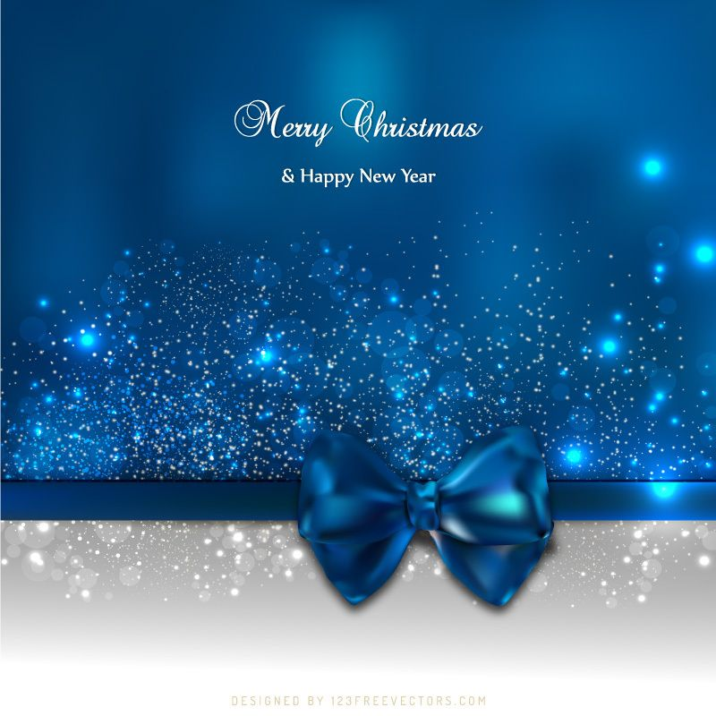 blue holiday christmas and new year card background with bow free christmas backgrounds christmas background