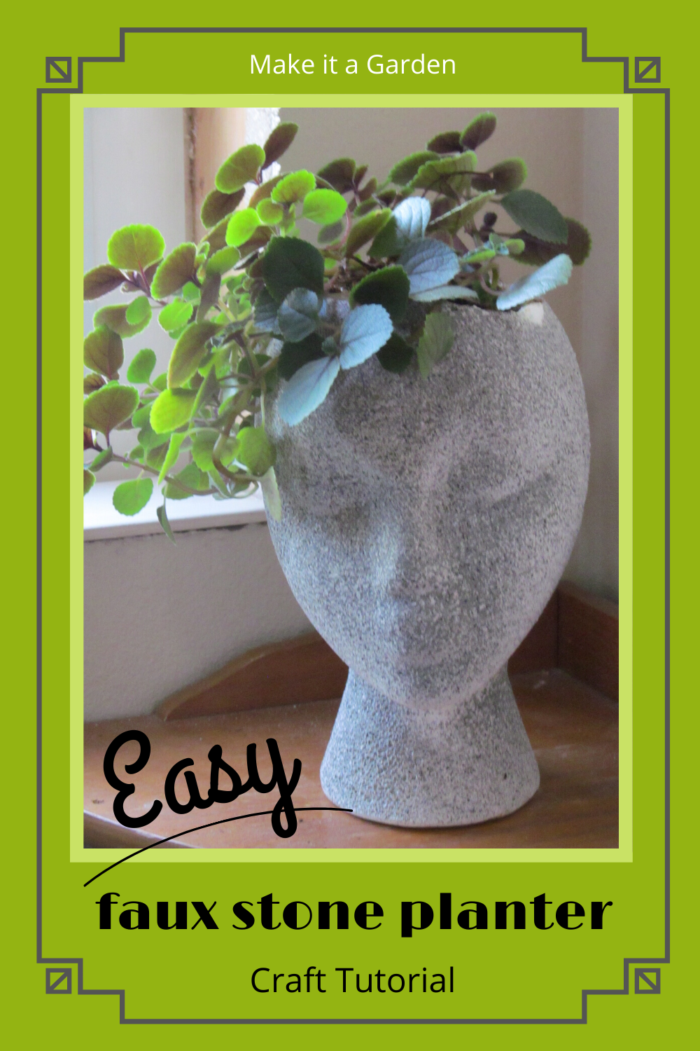 Show off your houseplants with this unique and artsy styrofoam planter