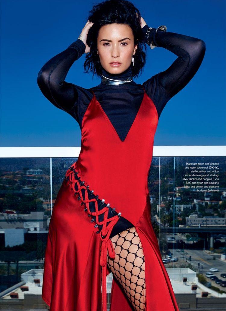 Demi Lovato Elle Canada September Six Photoshoot September Photoshoot And Rocker Chic