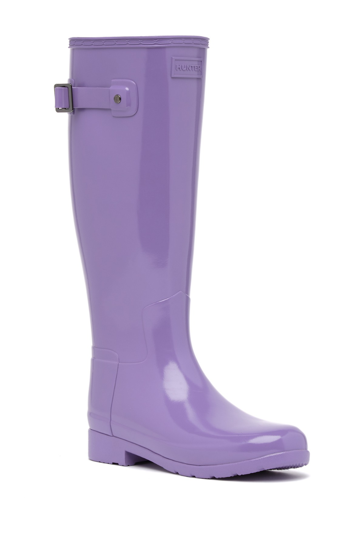 Hunter Original Refined Knee High Rain Boot Wide Calf Rain