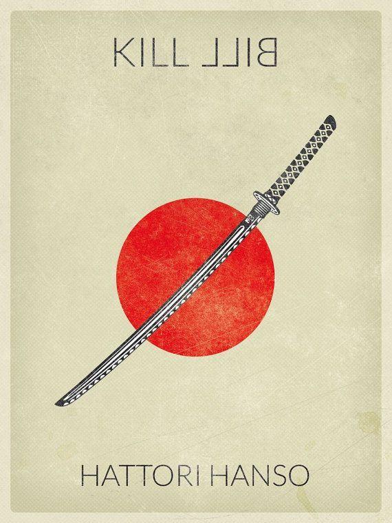 KILL BILL DIGITAL Download Movie Poster Hattori Hansso Poster Uma Thurman Print #filmposters