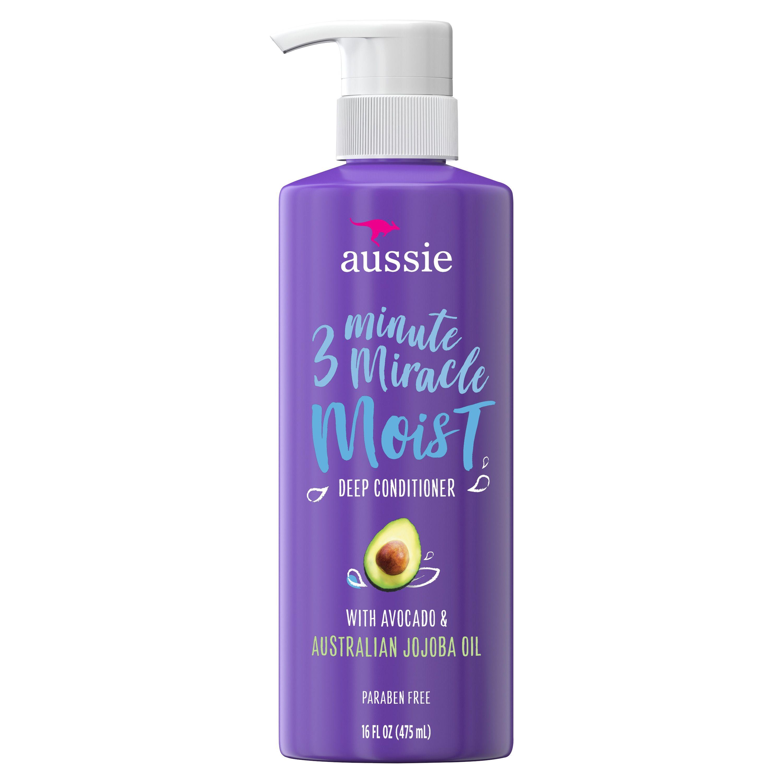 Aussie 3 Minute Miracle Moist Deep Conditioner Paraben Free 16 Oz Walmart Com Deep Conditioner Deep Hair Conditioner Aussie Miracle Moist