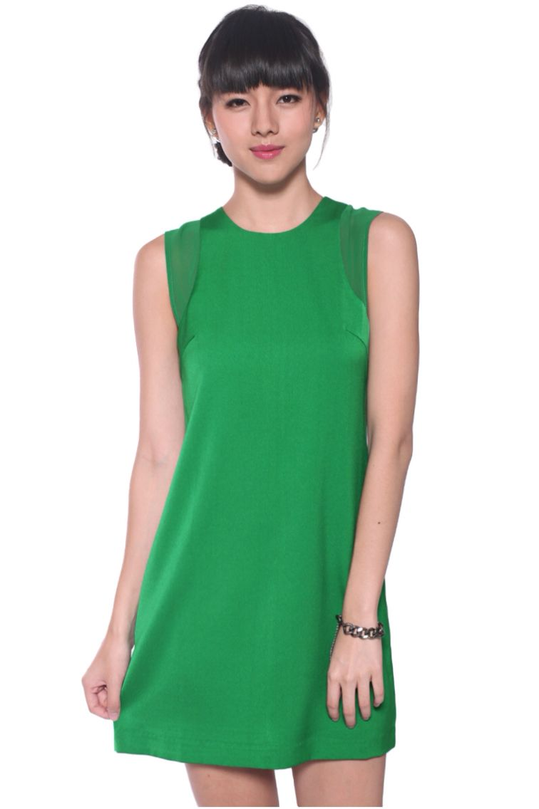 daabf39bdefc8c Love Bonito Ondria Shift Dress in Green | My Current Wardrobe ...