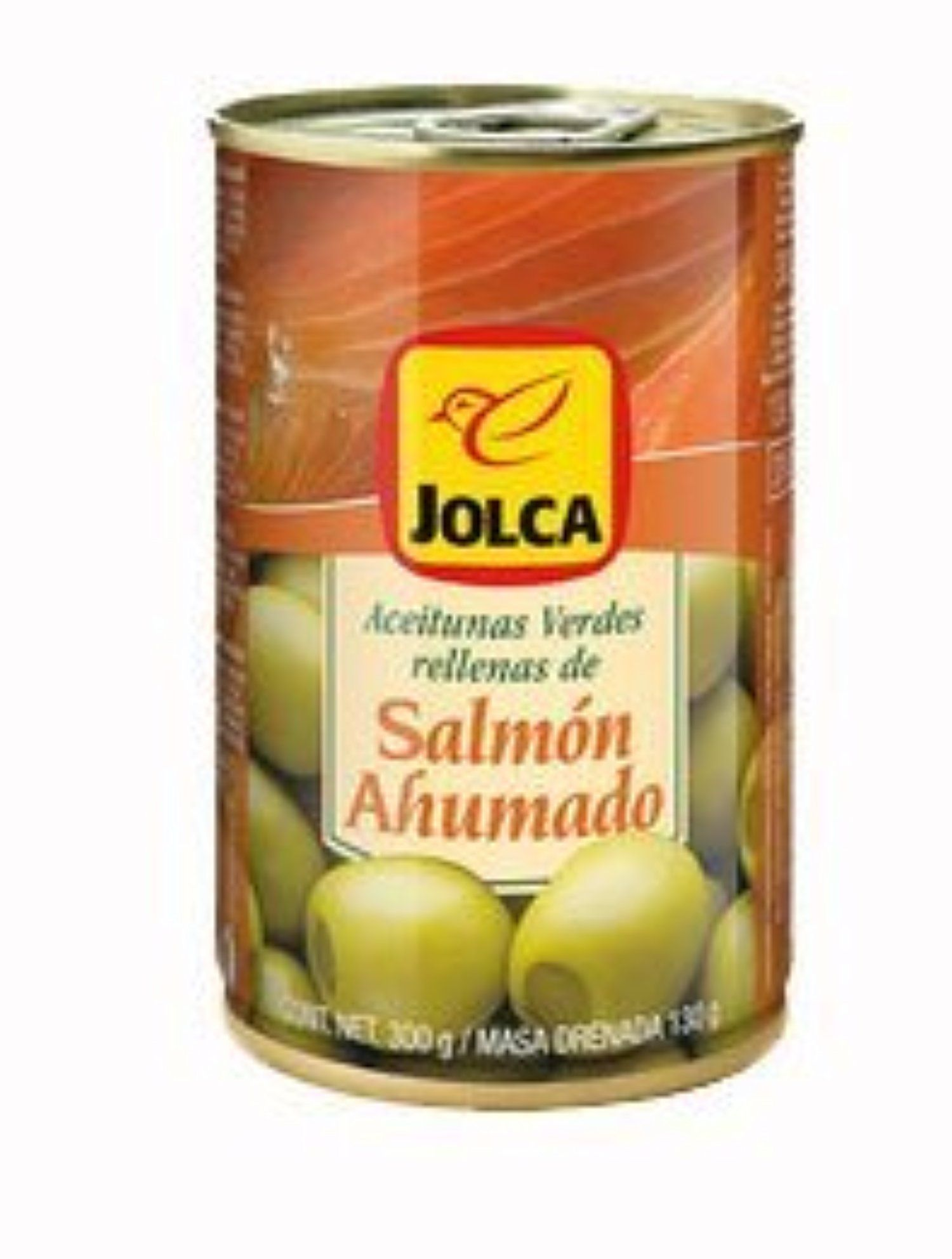 Green Olives Stuffed with Smoked Salmon / Aceitunas Españolas Verdes Rellenas de Salmon Ahumado 4.6oz 4 Pack by Jolca -- Awesome products selected by Anna Churchill