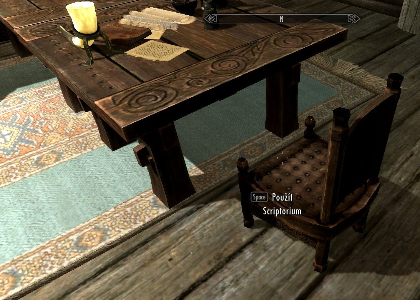 Den Furniture Try To Incorporate Skyrim Style Carvings Into Tables