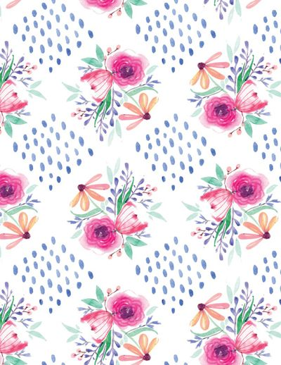 Print pattern blueprint esther bley wallpaper flowers print pattern blueprint esther bley malvernweather Images
