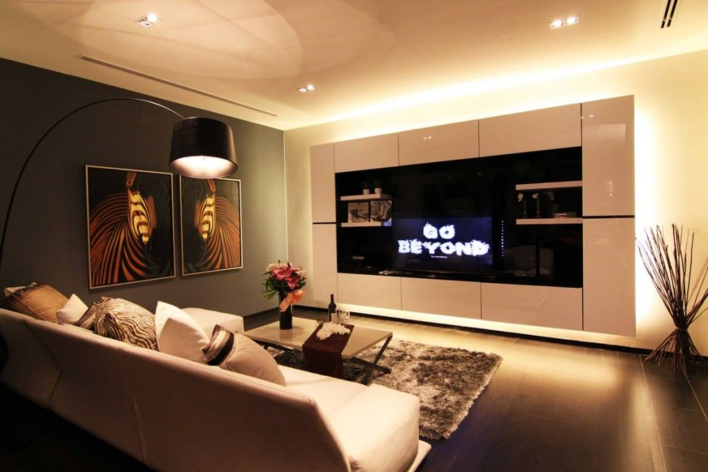 Shanghai apartment with modern minimalist flair simple storage in down lit hall with quirky record clock 인테리어 pinterest modern minimalist