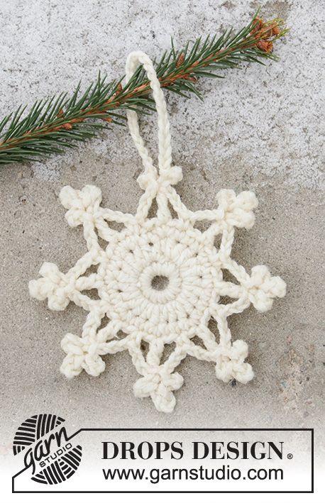 Snow Crystal / DROPS Extra 0-1468 – Modèles crochet gratuits de DROPS Design   – Unbedingt