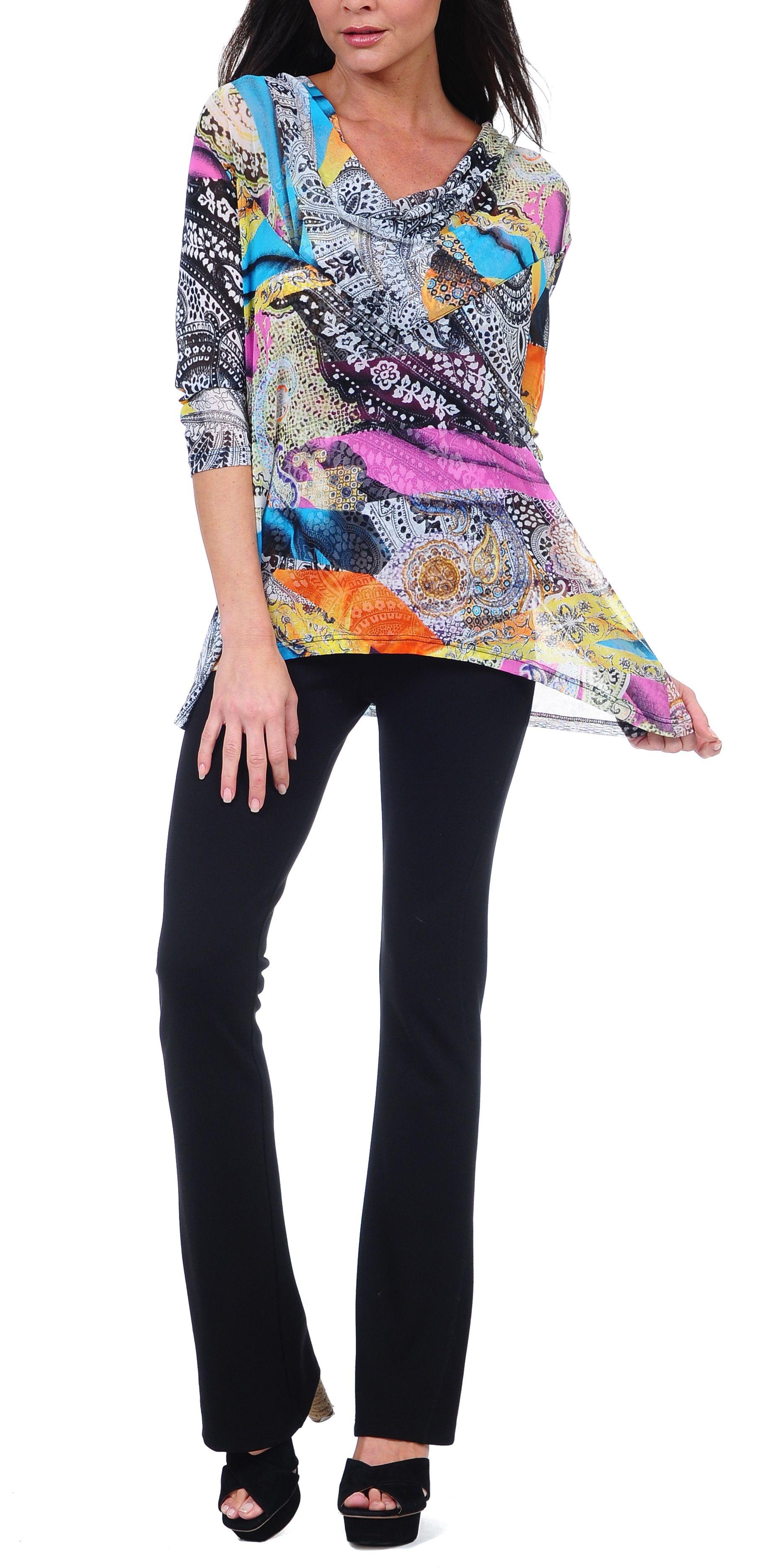 Lynn Ritchie Multi Colored Top