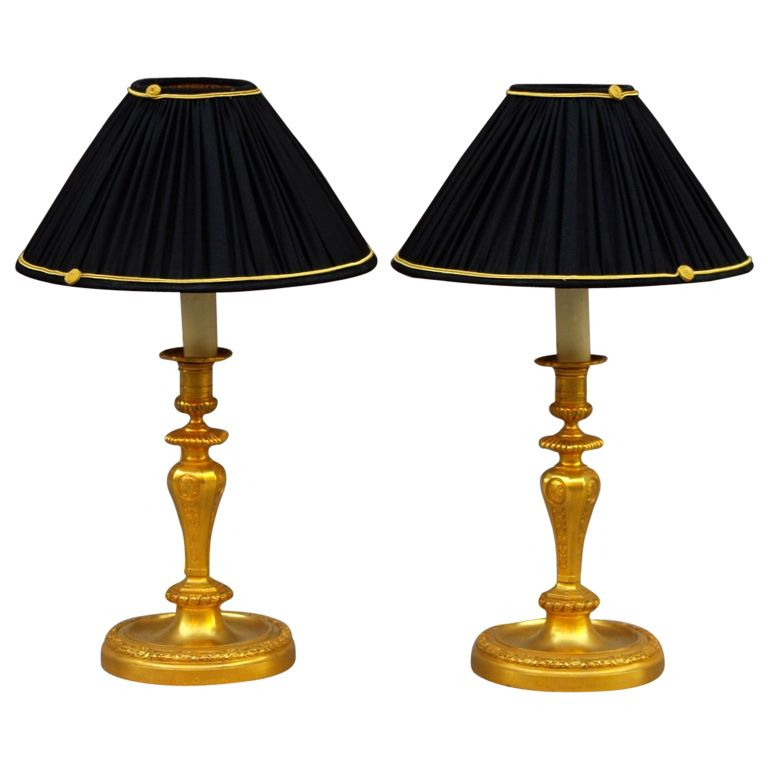 1stdibs | Rare Pair Of Lamps Signed Henri Dasson (1880)