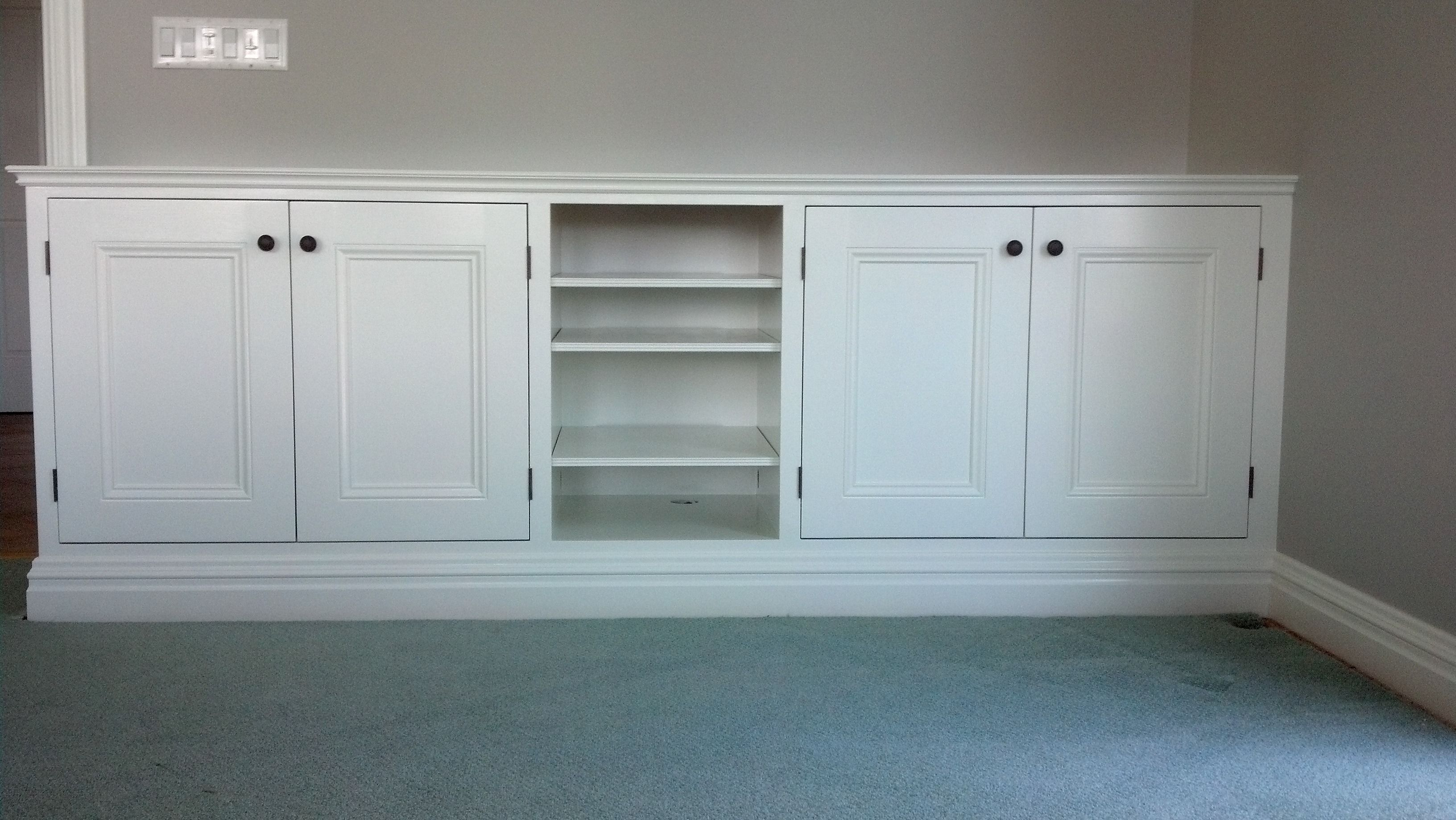 Freshly Painted Entertainment Center Perfection Plus Painting Bergen County Nj County House Built In Cabinets Painting Cabinets