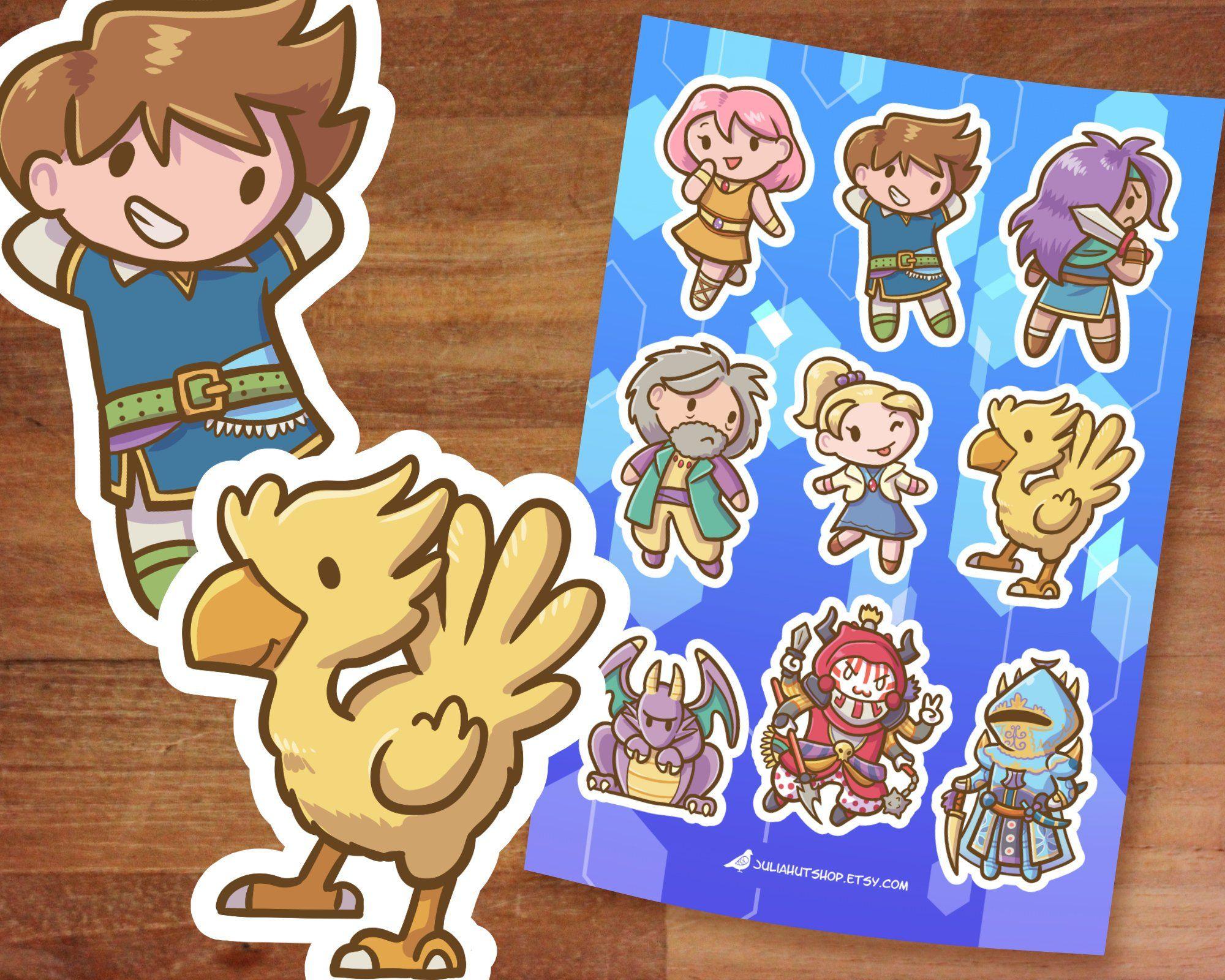 Final Fantasy 5 Stickers Ff5 Final Fantasy Cute Stickers
