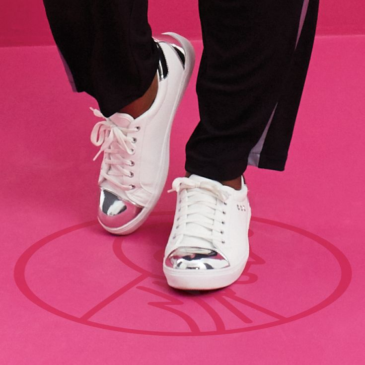 Kick Things Up A Notch In Classic White Sneakers With An