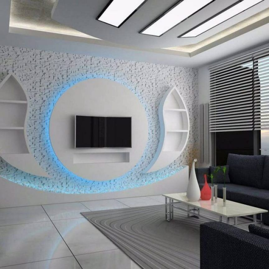 34 Brief Article Teaches You The Ins And Outs Of Tv Wall Units Ideas Lighting And What You Shoul Modern Tv Wall Units House Ceiling Design Living Room Tv Wall