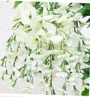 40 Long Artificail Silk White Wisteria Flower Vine Wedding Home Plant