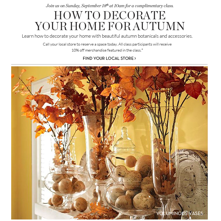 Home decor pottery barn | ... How to Decorate Your Home for Fall ...