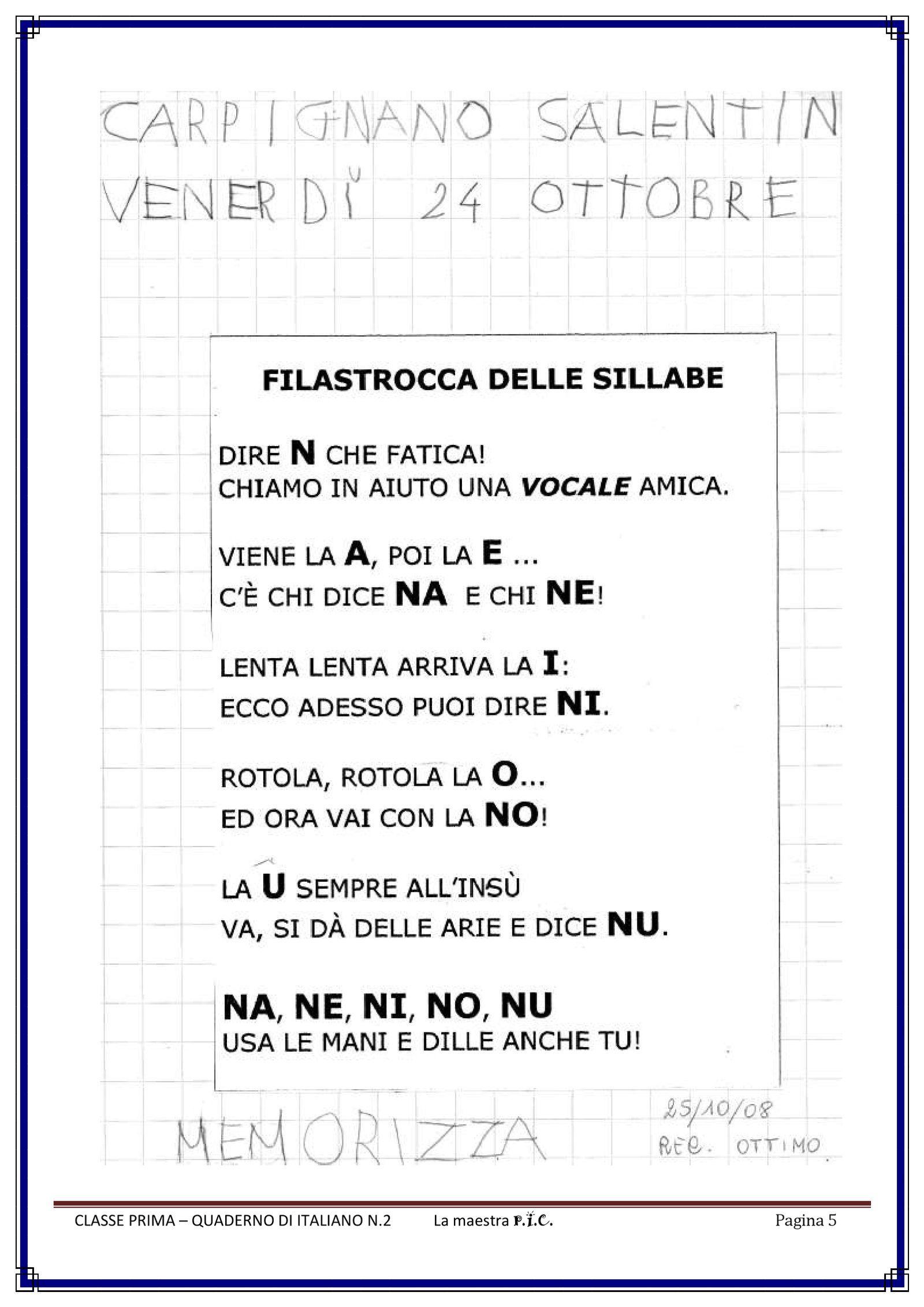 Il Mio Quaderno Di Italiano Pdf To Flipbook Insegnamento Della