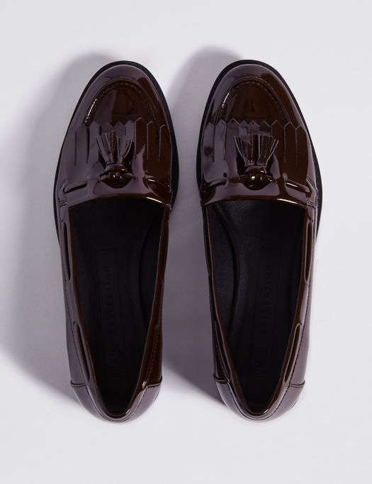 Patent Tassel Loafers | M\u0026S Collection