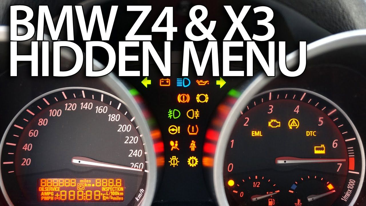 How to enter hidden menu in #BMW #Z4 (E85 E86) & X3 (E83) service